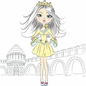 queen-cartoon-girl