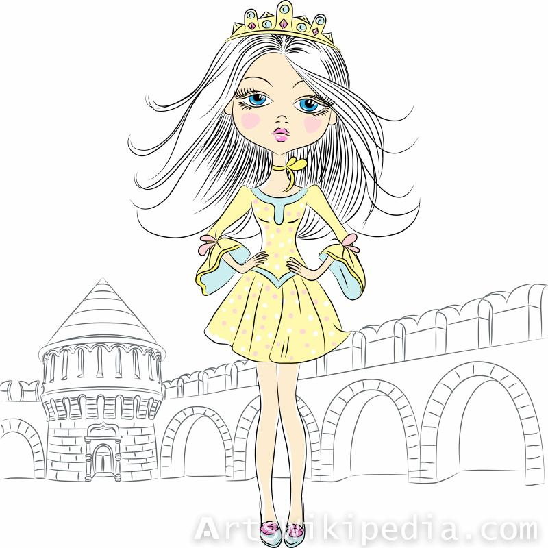 queen cartoon Girl