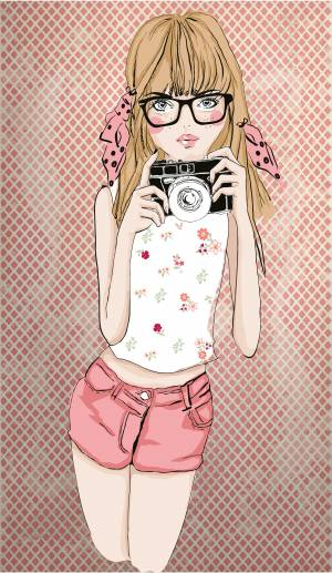 photographer-line-art-girl