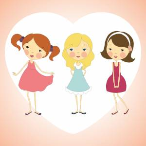 three-cute-line-art-girls
