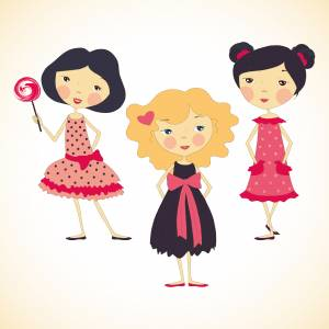 three-cute-cartoon-girls
