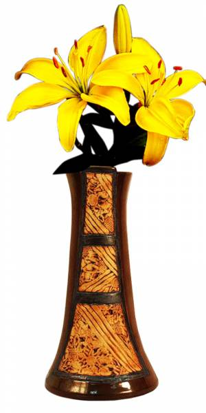yellow lily in vase clipart