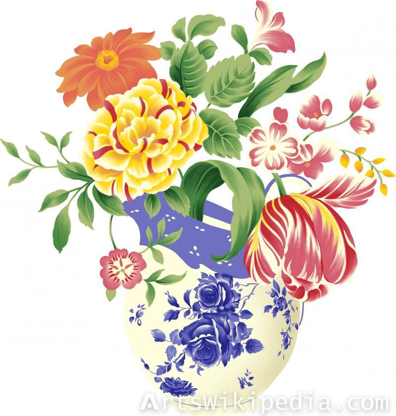 floral art illustration