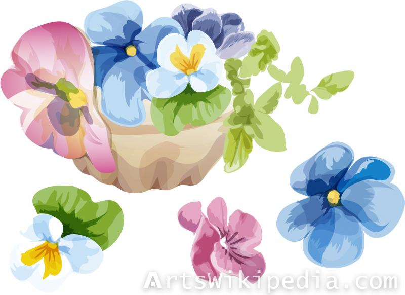floral illustration clipart