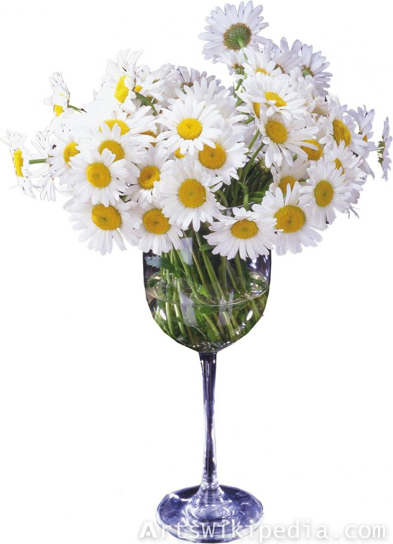 Narcissus in glass vase