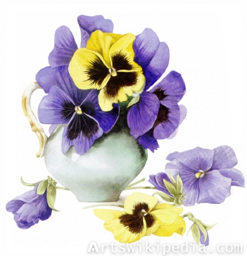 hand painted purple flower