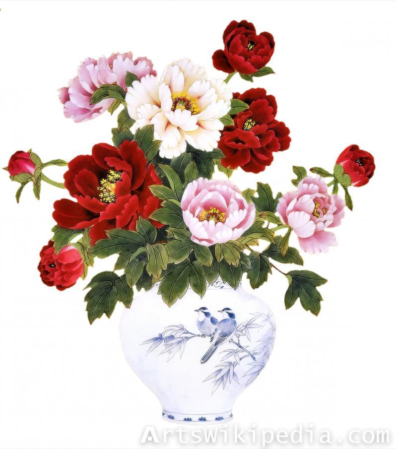 flower in vase illustration