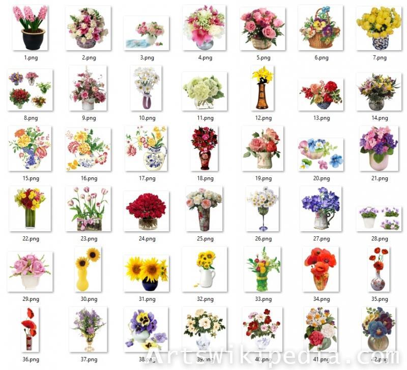 flowers vase Clipart