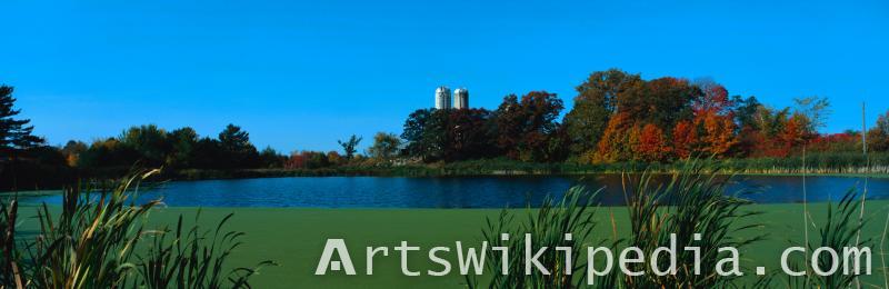 autumn blue lake