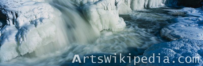 snow waterfall image