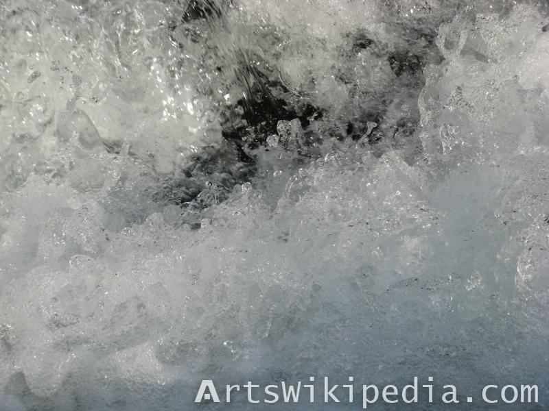 river foam texture