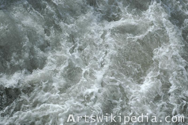 water wave and foam texture