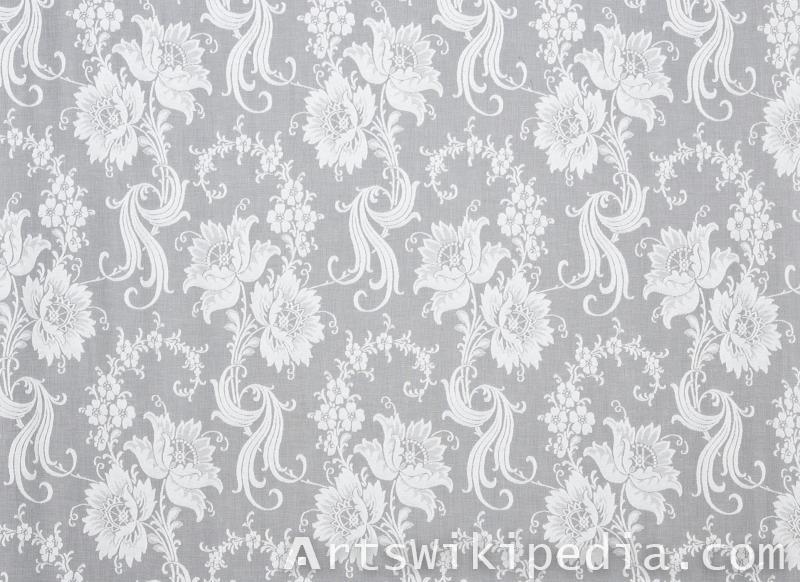flower pattern tulle texture