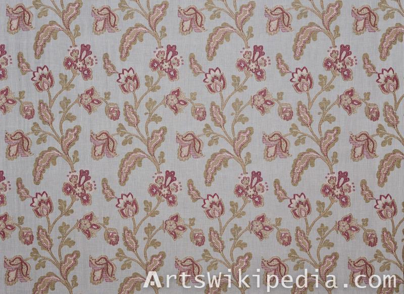 floral pattern silk texture