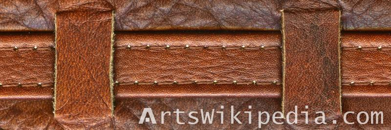 stitched leather texture
