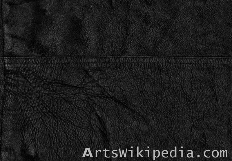 free black leather texture