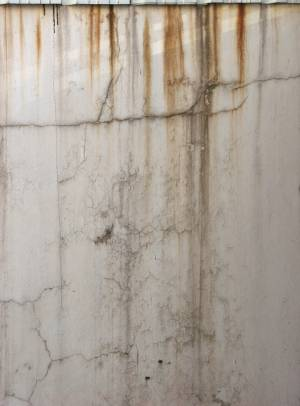 wall rust dirt