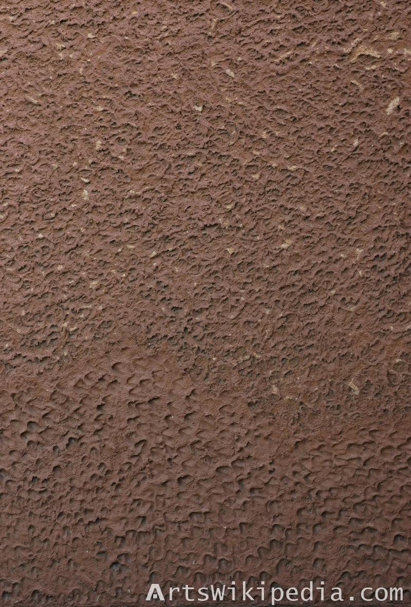 dark brown wall plaster