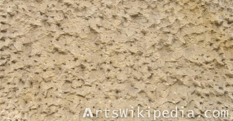 wall coated with stucco