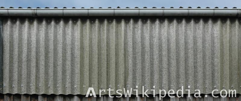 free texture of plated metallic wall