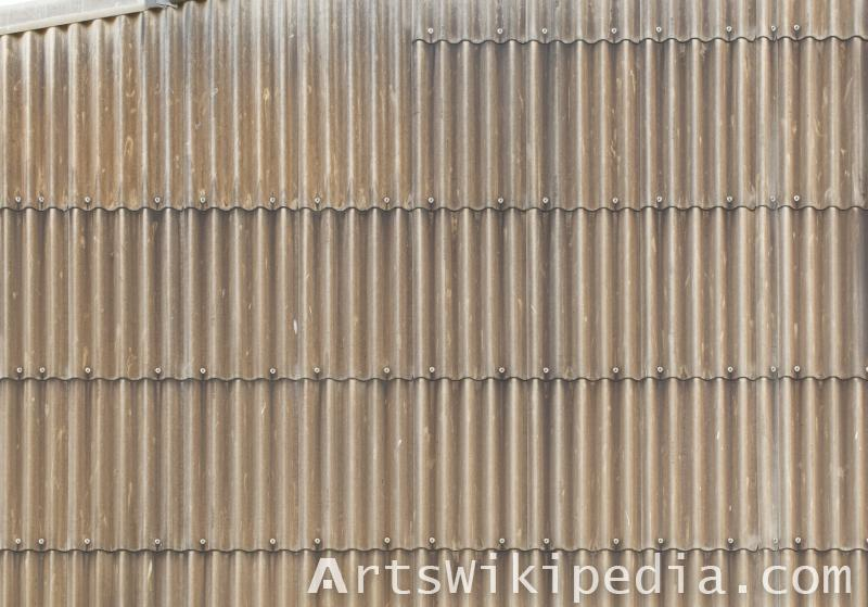 old studded metal roof texture