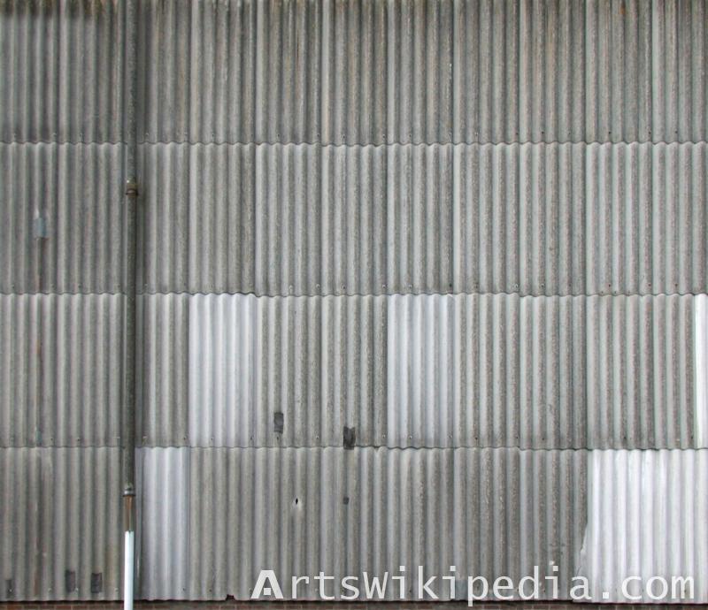 corrugated metal material