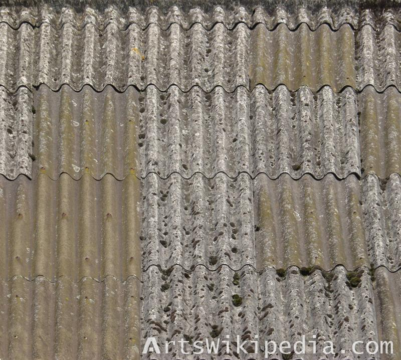 Broken slate material