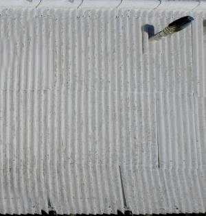 corrugated plates wall texture