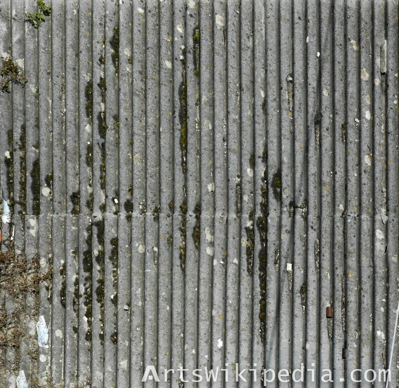 old rusted corrugated metal texture