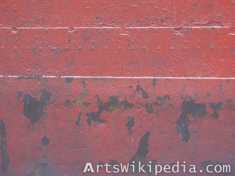 red painted metal