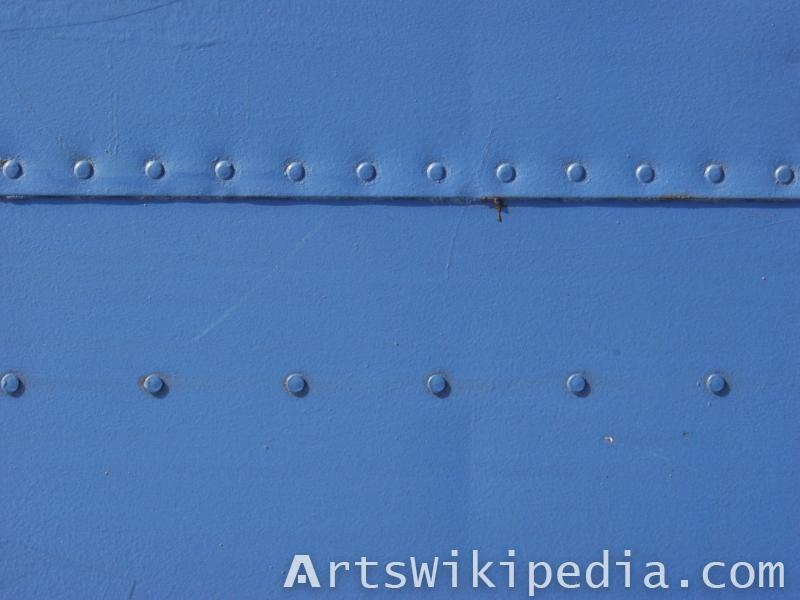 Blue Studded painted metal texture
