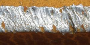 welded joint rusted metal