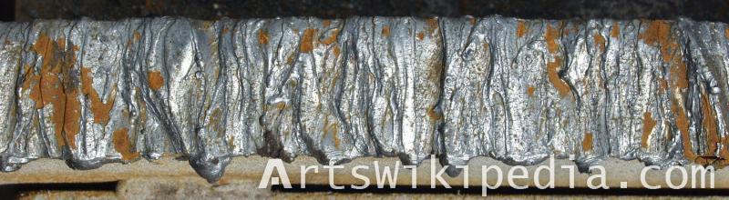Welding metal texture