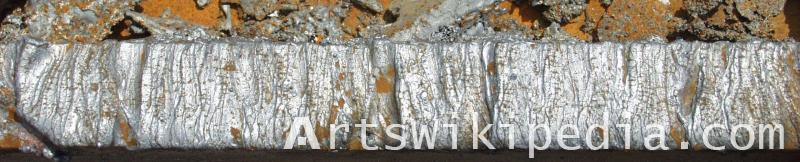 Welding metal material