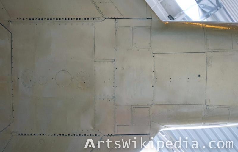 plane metal bolted panel