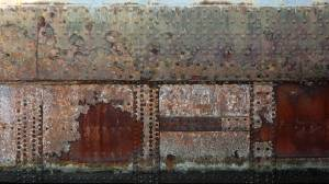 old rusted bridge structure