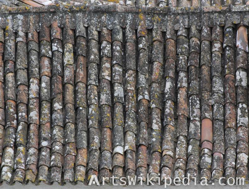 shingle roof house texture