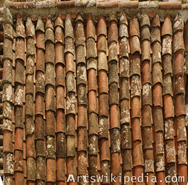 old house broken shingles