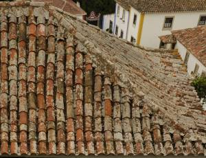very old house roof ceramic texture