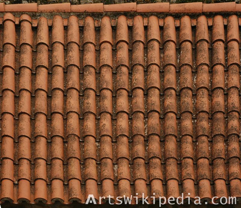red roof ceramic shingles