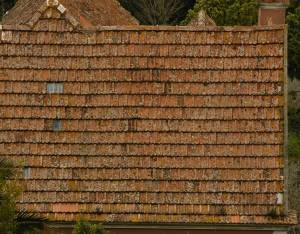 old roof ceramic shingles