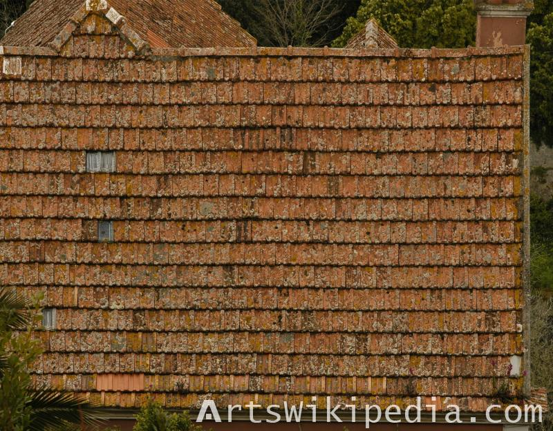 old roof ceramic shingles