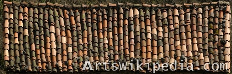old ceramic roof