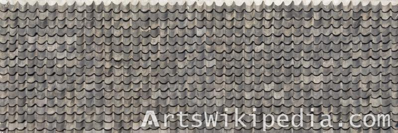 Roofing tiled shingles texture