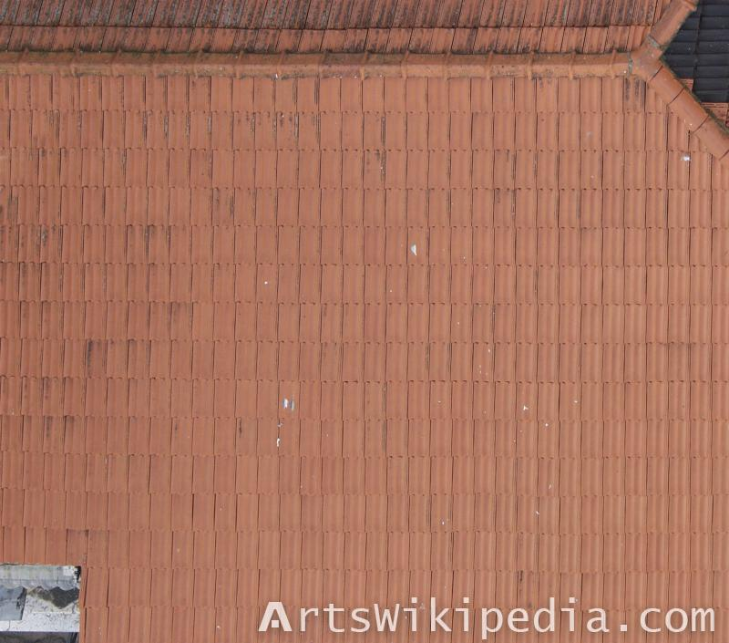 High resolution red roof texture
