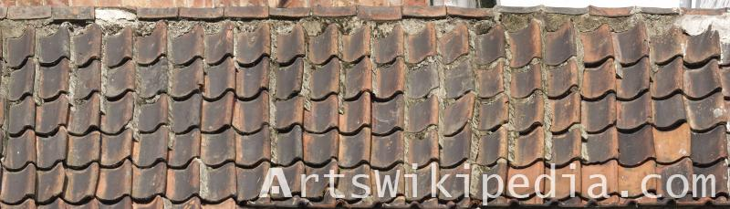High resolution dirty roof shingles
