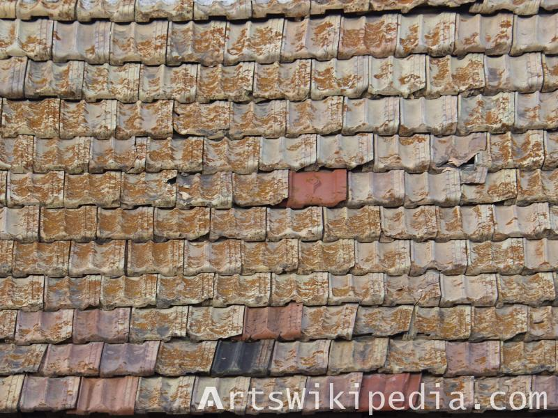 High resolution dirty house roof texture