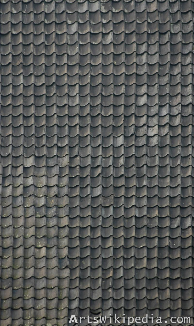 dark ceramic roof texture