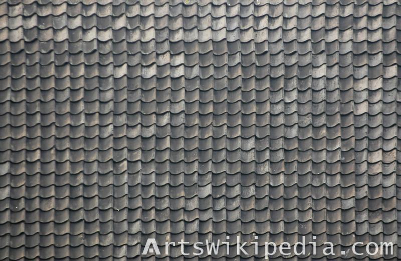 dirty ceramic black roof