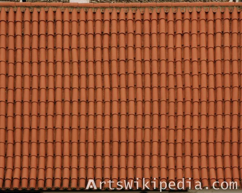 roof ceramic orange texture